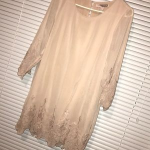 Blush Shift Dress